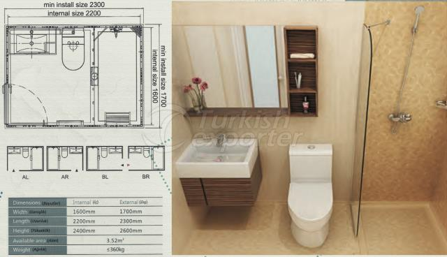 Unit Bathroom BW-1622